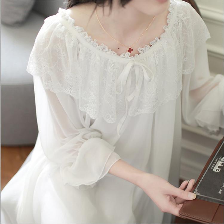 纯棉睡衣裙长袖