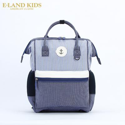 Eland kids衣恋童装2018年春夏新款儿童条纹大容量复古书包双肩包