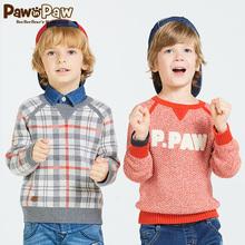 男童圆领套头毛衣 春季新款 Pawinpaw宝英宝卡通小熊童装