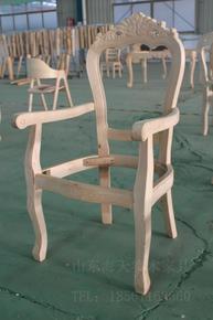 家用餐厅椅子白茬毛坯桦木橡木椅子欧式雕花实木餐椅白坯白胚原木
