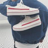 子潮鞋 板鞋 休闲鞋 情侣小白鞋 2018秋季新款 百搭韩版 男士 潮流帆布鞋图片