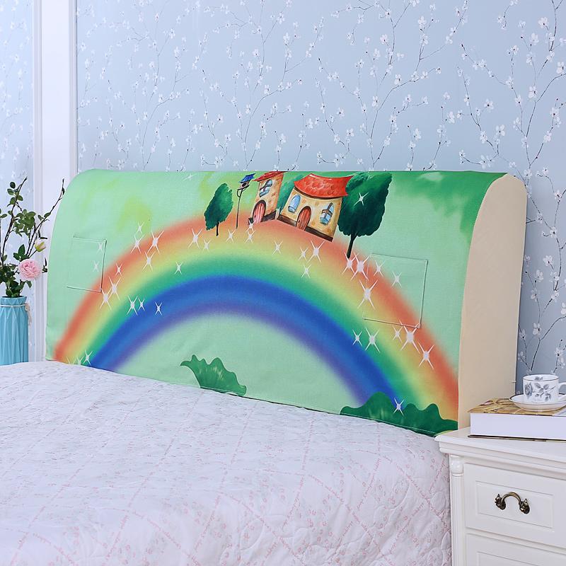 床头罩床头套亚麻棉1.5m床1.8m床软包床头夹棉全包皮床实木床头罩