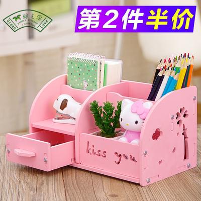 多功能笔筒创意时尚韩国小清新学生可爱卡通儿童桌面文具收纳盒