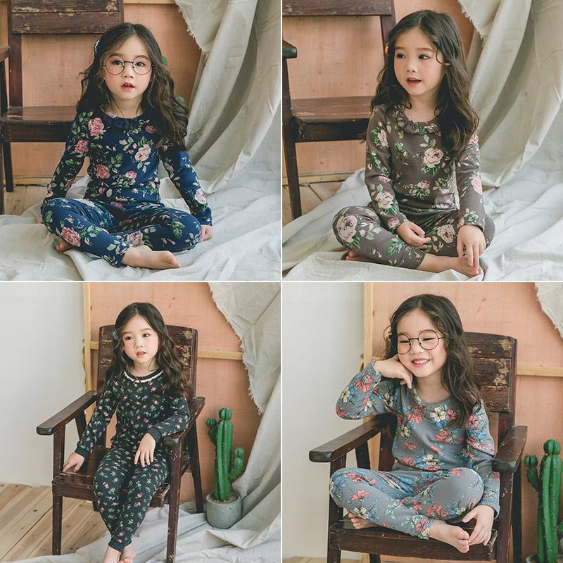 女童秋衣秋裤套装纯棉 宝宝内衣套1-3-6岁全棉毛衫睡衣家居服套装