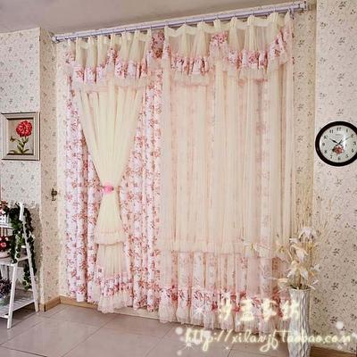 韓式蕾絲窗簾客廳窗簾特價田園臥室窗簾定做 成品 牡丹佳人哪款好