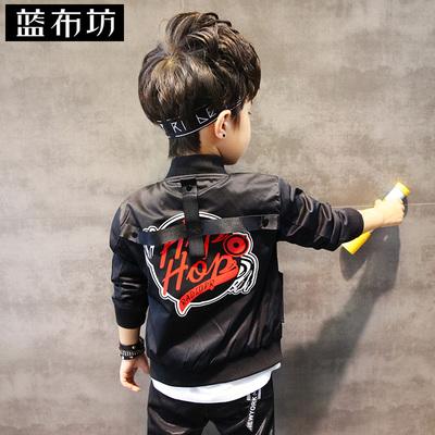 蓝布坊童装男童外套秋装2018新款儿童韩版夹克衫中大童薄款棒球服