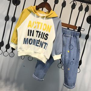男童秋装套装2018新款小儿童韩版卫衣帅宝宝洋气两件套春秋季潮衣