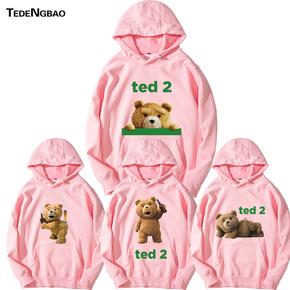 泰迪熊2TED熊熊印花卫衣青少年小熊熊仔男女套头连帽卫衣
