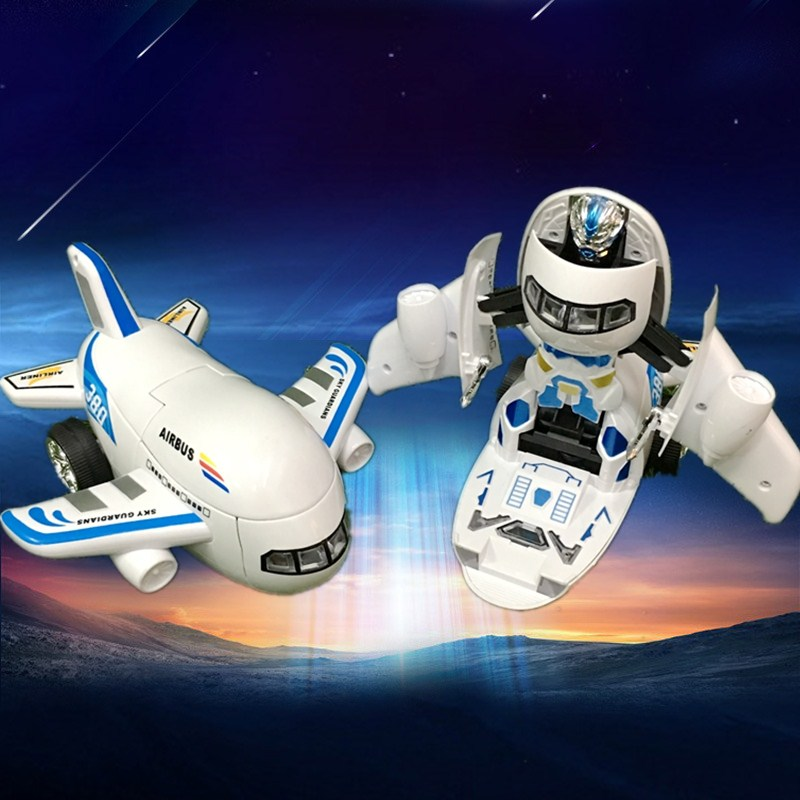 Children's electric universal light music Boeing passenger opportunity deformation of the aircraft male baby 1