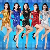 新款c哩c哩演出服DS女成人爵士舞服装现代舞练舞服嘻哈亮片舞蹈服
