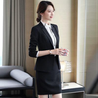 洛臣职业装女装套装西服套裙修身女士正装大码工装西装工作服套裤