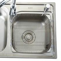 水槽上方可调节收纳篮沥水篮厨房用品水龙头下置物架海绵挂蓝