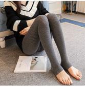 时尚 孕妇裤 春秋打底裤 长裤 秋季加厚怀孕期踩脚修身 竖条纹针织袜裤