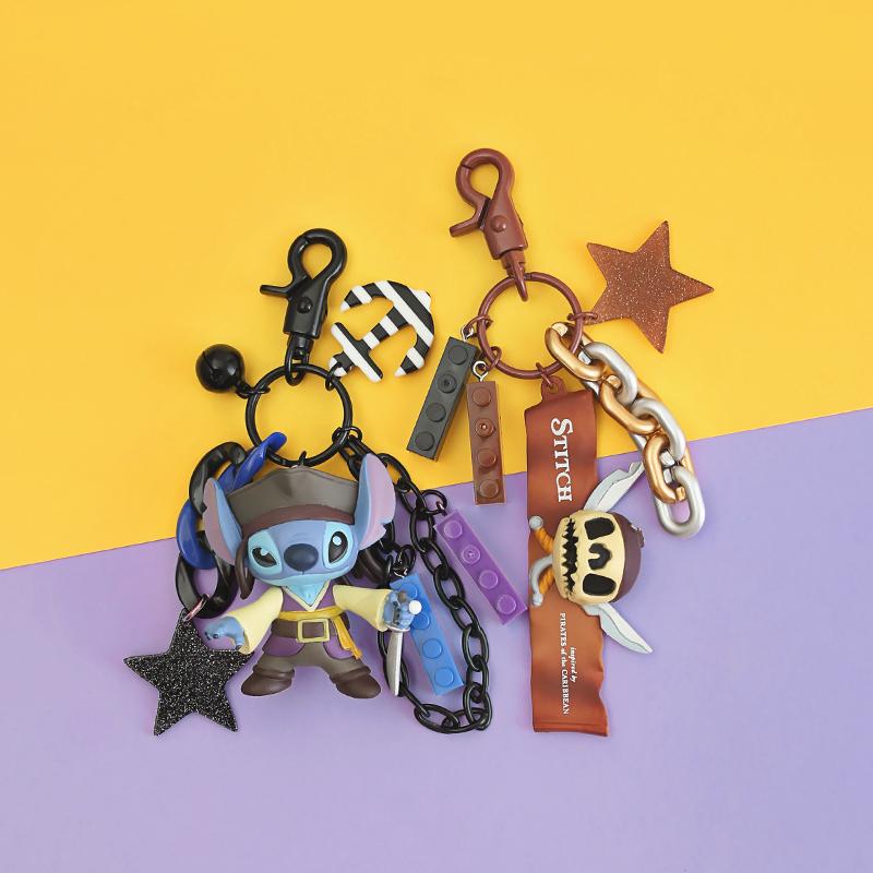 史迪仔钥匙扣迪士尼星际宝贝挂件公仔卡通可爱创意史迪奇钥匙链