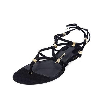 18年新款FERRAGAMO/菲拉格慕女士凉鞋麂皮系带女拖鞋01N156