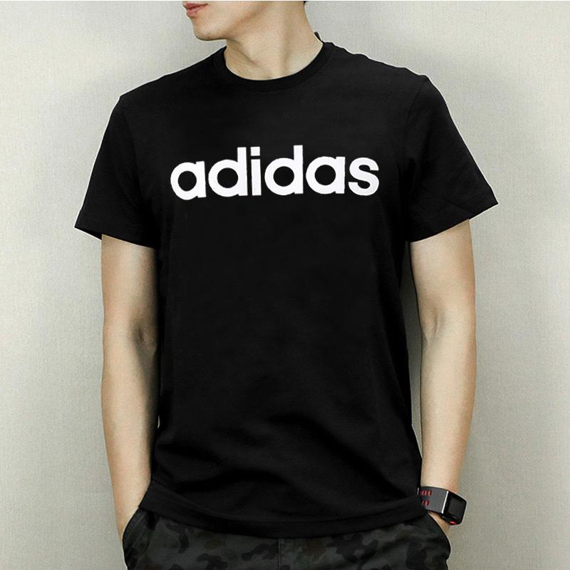 Adidas阿迪達斯男裝2019夏季新款休閑運動服上衣短袖T恤健身半袖