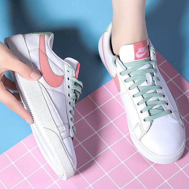 NIKE耐克女鞋2019秋冬季新款低帮轻便运动鞋休闲鞋粉勾小白鞋板鞋