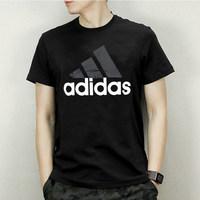 阿迪达斯短袖男 2018夏季运动休闲体恤半袖透气宽松速干T恤BK0936