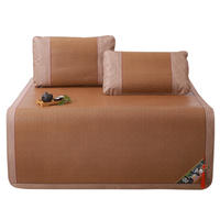 Romana mat 1.8m bed folding three-piece 1.5 m thick rattan seats 1.2 single double dormitory student mat