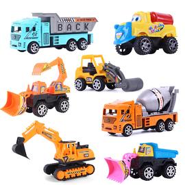 宝宝儿童玩具回力惯性工程车挖掘机消防小汽车男孩挖土机批發迷你图片