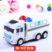 遥控车玩具创意儿童电动万向发光特警战车男孩4-5岁汽车仿真模型