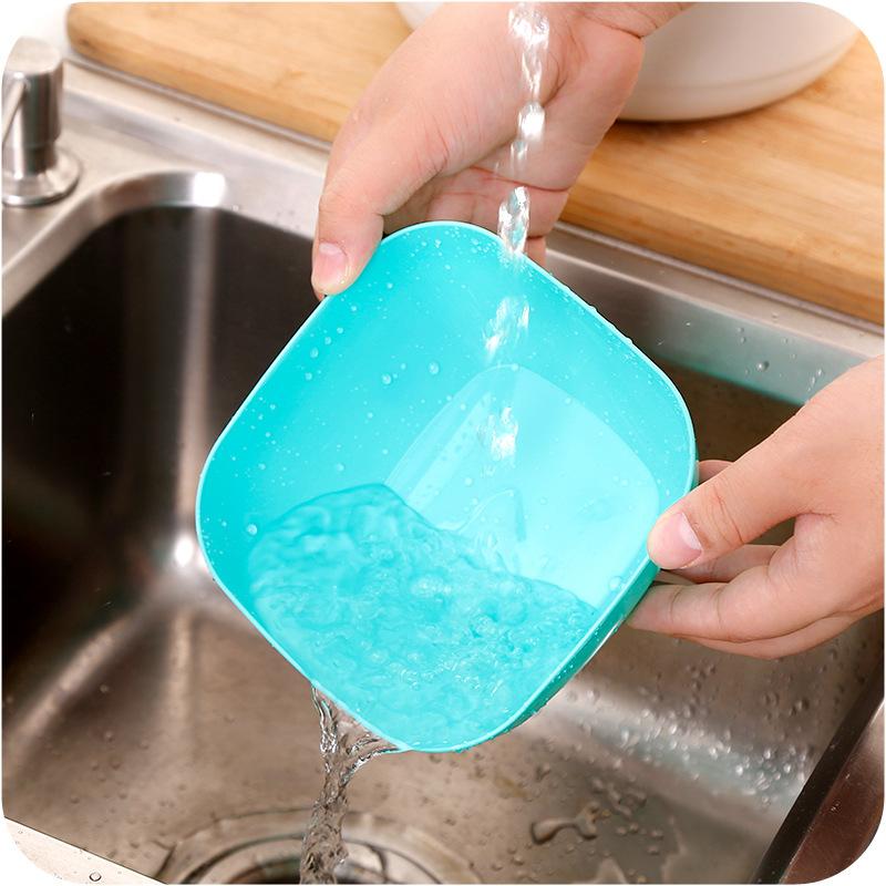 加厚塑料方形果盘色拉碗 食品瓜子水果盘装小零食糖果盘干果碗