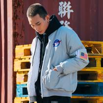 美国NASA宇航员空军外套男春秋风衣飞行员夹克男潮牌宽松棒球服薄