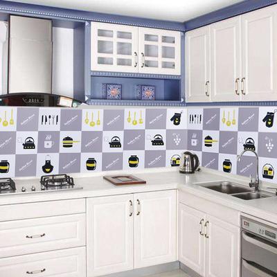 优思居 厨房防油贴纸 自粘油烟机耐高温灶台瓷砖贴防水隔油污墙纸