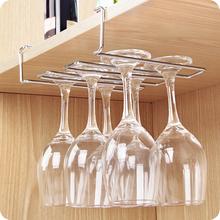 不锈钢红酒杯架倒挂红酒架高脚杯架免钉悬挂葡萄酒吊杯架 优思居图片