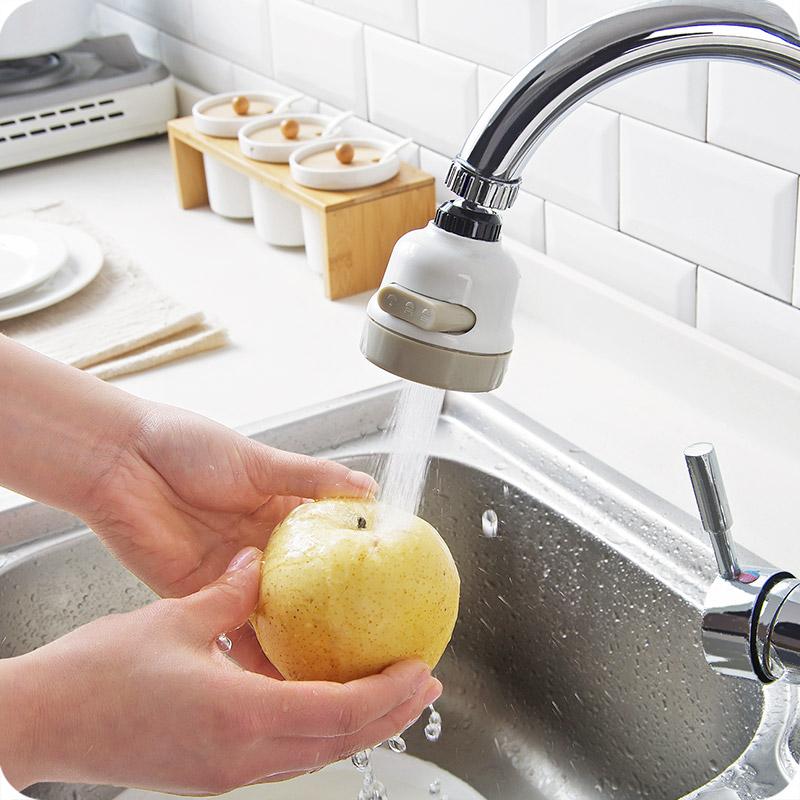 水龙头增压防溅水喷头家用自来水花洒节水器可旋转调节起泡过滤嘴