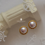 Xi Yu does not buy regret non-pool antiques fine mirror light bulb-grade natural pearl hemp ear nail earrings