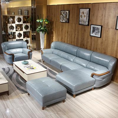 真皮沙发头层牛皮现代简约客厅北欧小户型大气皮质客厅组合皮整装使用感受