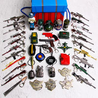 Eat chicken toy pendant Jedi survival kit full weapon model Airdrop box 98K three-level head keychain toy