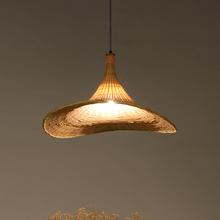 创意吊灯民间艺术工艺品灯具纯手工限量竹制餐桌茶室日式田园灯饰