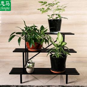 花架子铁艺多层客厅阳台落地式阶梯三层承重户外花架养花种菜盆架