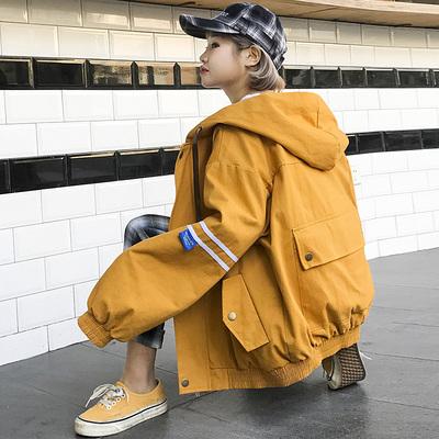 2018新款女装春装外套女连帽宽松bf韩版学院风学生春秋季棒球服潮