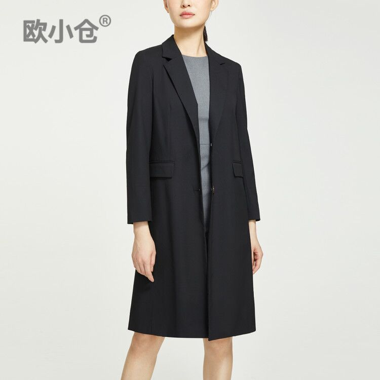 OXC / Ou Xiaocang windbreaker female long section Chester coat suit collar
