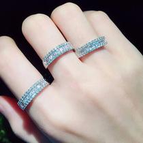 坦桑蓝宝石人造钻石长方直角车花蓝宝石裸石原石5A戒面镶嵌珠宝