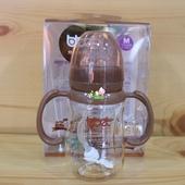 巴比象巧克力色PPSU自动圆弧奶瓶新生儿防胀气奶瓶实体店现货 正品