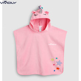 Spot NEXT children pink unicorn beach cloak 2019 summer new female baby cotton towel bathrobe
