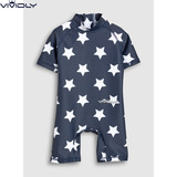 Spot NEXT children's beach sunscreen swimsuit 2019 male baby blue star Siamese swimsuit March to 7 years old