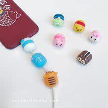6sPlus日韩女 MAX 可爱卡通充电线保护套防折断iPhone苹果XS