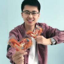 克35阿尔帝松软烤虾凤尾虾丹东特产即食海鲜干货零食烤虾焙烤海虾