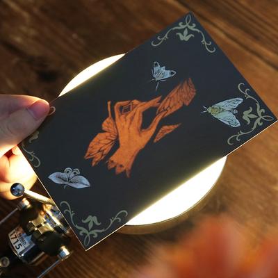 买二赠一 隐形明信片教师节礼品贺卡 创意透光藏字明信片和卡片