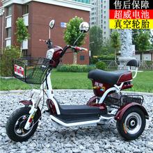 雅博电动三轮车成人女士小型迷你型代步车家用双人休闲车接送孩子