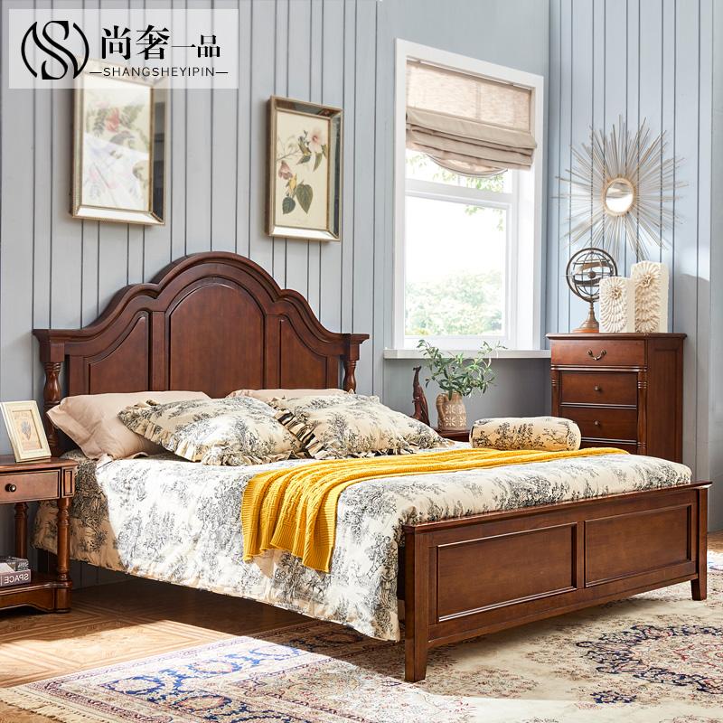 简美风格床