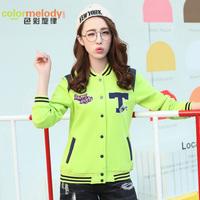 少女秋装 新款韩版修身短外套女初高中学生开衫卫衣棒球服潮