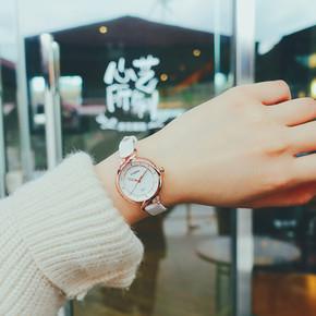 手表女学生韩版简约休闲大气可爱 夏季小清新中学女孩时尚石英表