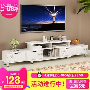 欧意朗电视柜 伸缩组合电视柜仿烤漆电视机柜现代简约客厅地柜