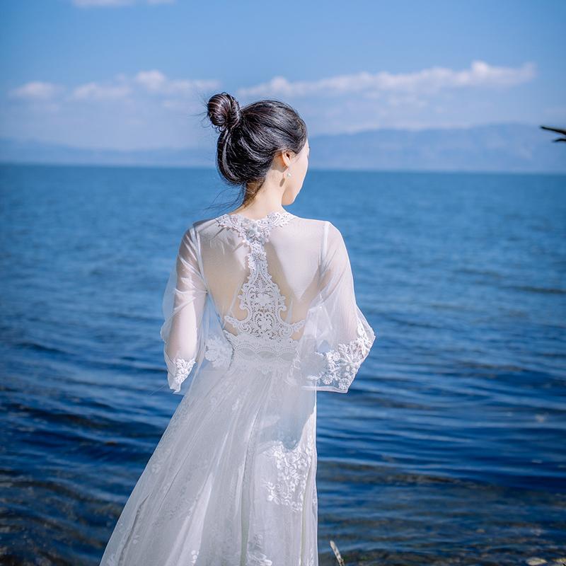 白色长裙仙文艺